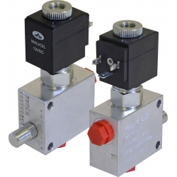 2-way electric valves, pilot-operated, poppet type - NA - normally opened