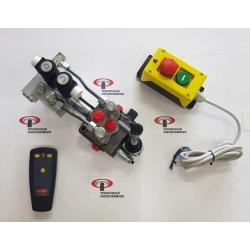 1 LEVER ELECTROHYDRAULIC DISTRIBUTOR + REMOTE CONTROL