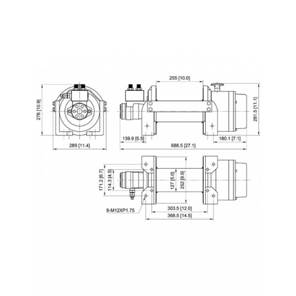 AUTOMATIC MALE STRAIGHT FITTING 4 X 1/8""