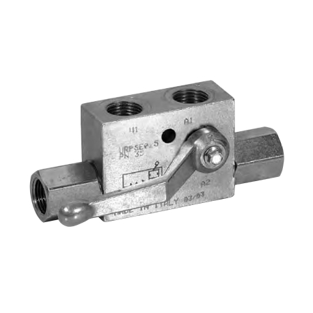 Pilot operated check valve single acting